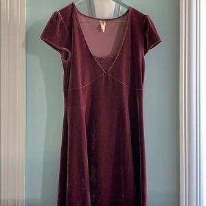 Velvet cap sleeve dress